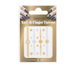 Metallic Tattoo Nail and Finger Metallic Tattoo Nail and Finger Ornament