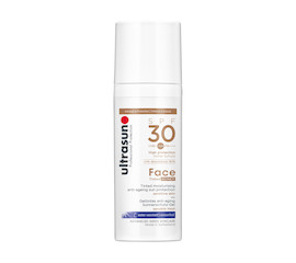Ultrasun Face Tinted Anti-ageing sun protection SPF 30 Honey