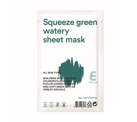 E. NATURE Squeeze green Watery Sheet mask