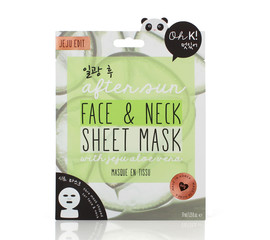 Oh K! After Sun Face & Neck Sheet Mask Gesichtsmasken