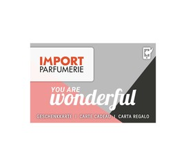 Import Parfumerie Geschenkkarte <br> Carte Cadeau / Carta Regalo Wert variabel / Valeur variable / Valore variabile