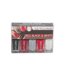 Guylond Mini Nagellackset Black, Red & White Nagellackset