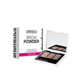 andmetics Brow Powder Trio Augenbrauen-Puder